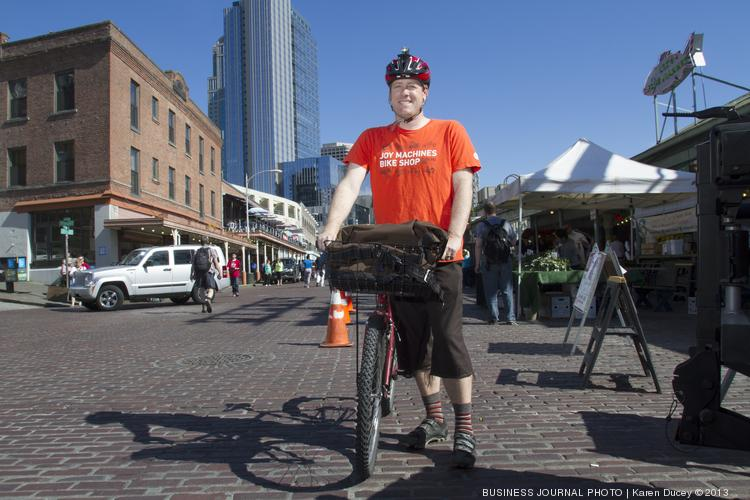 Ben Franz-Knight, executive director of Pike Place Market Preservation and Development Authority, rides to and from work every day from Ballard.