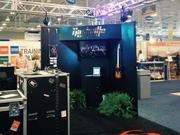 The booth that the Nashville Convention and Visitors Corp. sets up to sell Music City to conventions and meeting planners, designed to look like a backstage area.