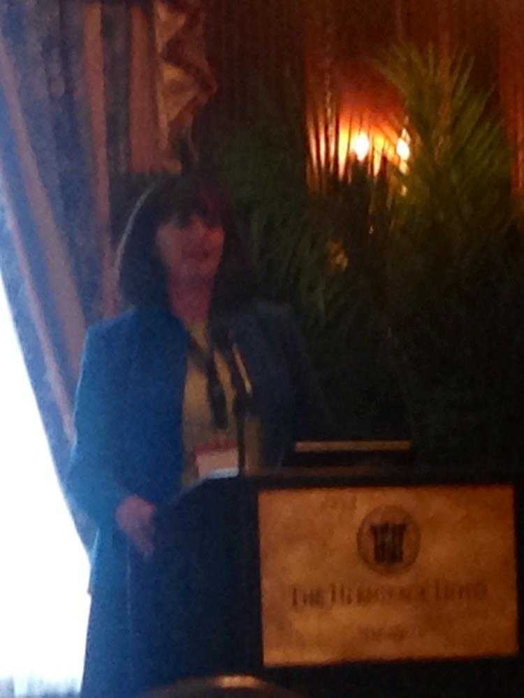 Nicole Tremblett, a vice president of information technology and services at HCA, speaks at Healthquest Nashville.