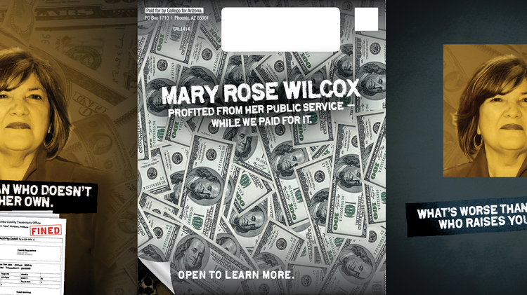 """Ruben Gallego's campaign has sent out mailers critical of primary opponent Mary Rose Wilcox. Wilcox campaign has also sent out mailers talking about the killing of Trayvon Martin and Gallego's support for a """"Stand your Ground"""" bill."""