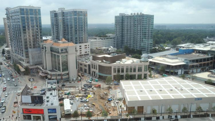 Buckhead Atlanta, an 8-block redevelopment of a former bar district, on Sept. 18 is set to start opening shops and restaurants. The roughly $1 billion project has been in the making for a more than a decade.