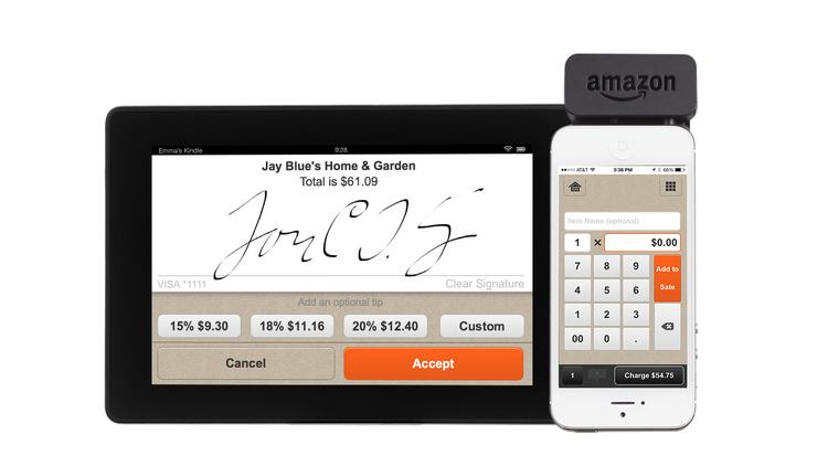 Amazon.com has introduced its Local Register credit card reading system.