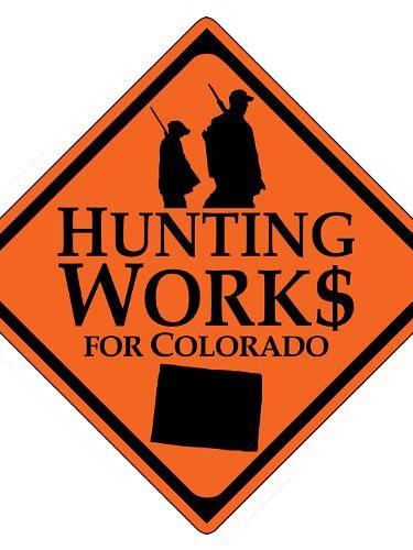The new group Hunting Works for Colorado's logo