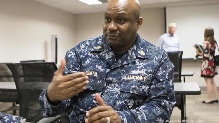 Navy Master Chief Rickie Smith speaks about why he chose to attend the Boots to Business series at Naval Station Mayport.