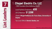 Chapel Electric Co. LLC is the No. 1 electrical contractor.