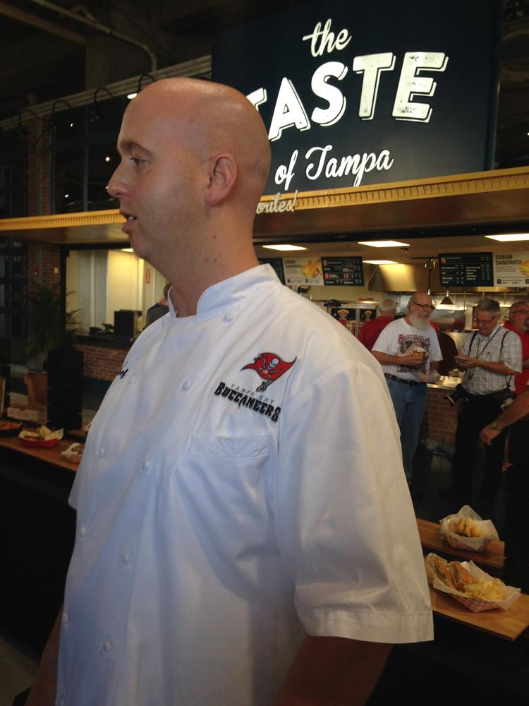 Aramark Executive Chef Kevin Riley talks about the new concessions options at Raymond James Stadium.
