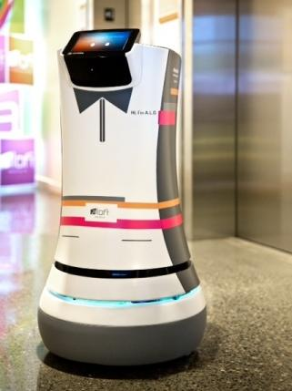 Aloft's robot butler called A.L.O. is making its debut at the Cupertino, Calif. location.