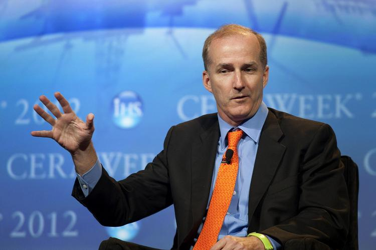 Pictured: David Crane, president and CEO of NRG Energy Inc., speaking at CERAWEEK in Houston last year.  After Princeton, N.J.-based wholesale power generation and retail electricity company NRG Energy Inc. (NYSE: NRG) merged with Genon Energy Inc. (NYSE: GEN) last year, the company officially joined the short list of companies with two headquarters — one in Houston, the other and in Princeton, N.J.