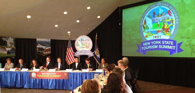 About 200 people turned out at The Egg for the first-ever New York Tourism Summit