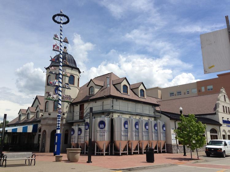Hofbrauhaus, seen here in Pittsburgh, is looking at building a beer hall in Columbus. Click on the next image for an interior view.