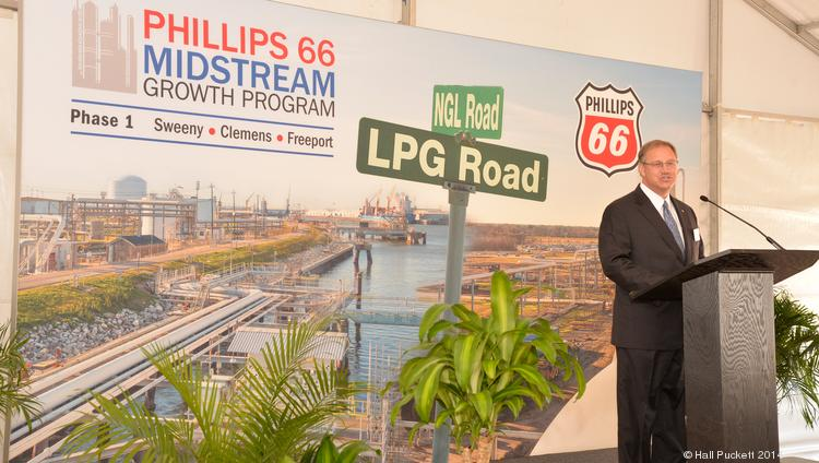 Phillips 66 Chairman and CEO Greg Garland discusses growth plans at the company's LPG export terminal groundbreaking in Freeport.