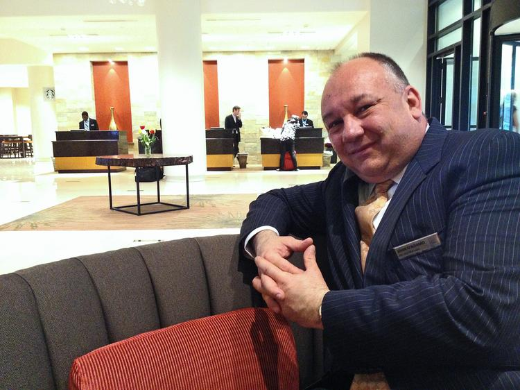 John D'Adamo, general manager of the Hilton Albany.  Nearly all of the renovations at the hotel are finished.