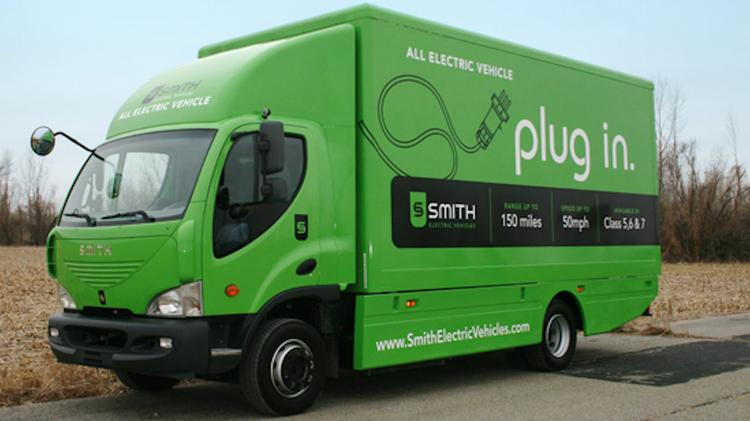 A Smith Electric Vehicles truck.