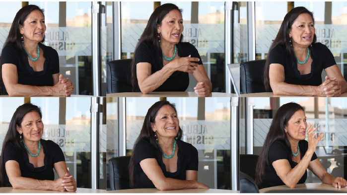 Deb Haaland has worked in political campaigns for years, but this is the first time she is a candidate herself. (Randy Siner   Albuquerque Business First)