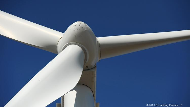 A wind turbine manufactured by Vestas Wind Systems A/S.