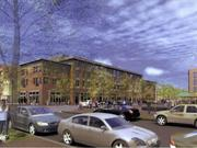 The proposed Hine north building will feature residential over retail.