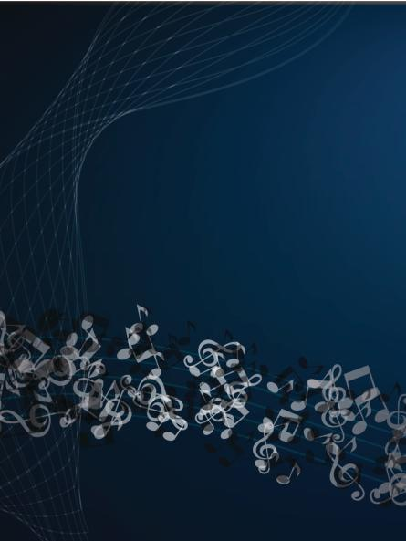 Notes abstract music background