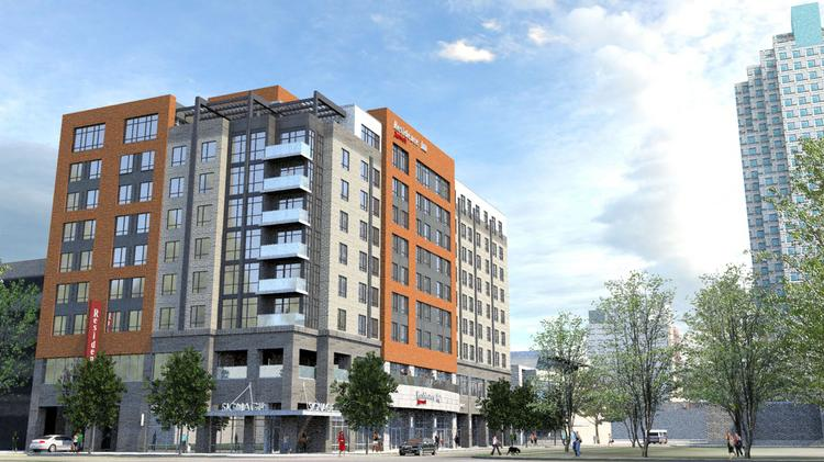 A Artist Rendering Of The Proposed 9 Story Residence Inn By Marriott Hotel In Downtown