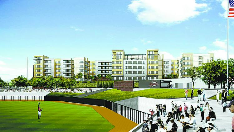 A rendering of the Venue at the Ballpark.