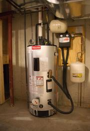 An energy efficient water heater uses solar technology to reduce power consumption