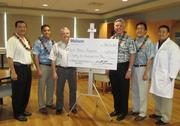 The Rehabilitation Hospital of the Pacific Foundation received $25,000 from the Matson Foundation for the hospital's capital campaign for the renovation of the hospital. From left: Gary Nakamatsu, Matson Foundation, Pacific Committee chair; Vic Angoco, Jr., senior vice president-Pacific, Matson Inc.; Dr. Timothy Roe, president and CEO, Rehabilitation Hospital of the Pacific; Matthew Cox, president & CEO, Matson Inc. and president of Matson Foundation; Kuuhaku Park, vice president of government and community relations, Matson Inc.; and Dr. Jason Chang, chief medical director of Rehabilitation Hospital of the Pacific.