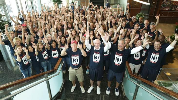 On Thursday, the Houston Texans held a rally to support lymphoma research in honor of 23-year-old teammate David Quessenberry, who was diagnosed with the disease in June. The rally may have helped boost shares of Epizyme, which reported good trial results for its drug to treat the disease this week.