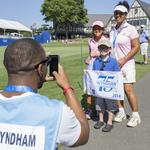 Golfing and grins: Sights from the Wyndham Championship this week