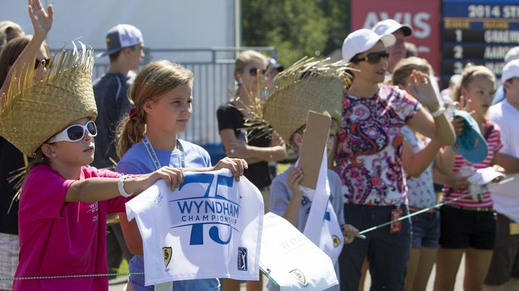 Fans call for autographs at this week's Wyndham.