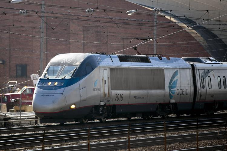 Amtrak ridership in the New York area has grown by 23 percent since 1997. Above, an Amtrak Acela train travels along the Northeast Corridor.