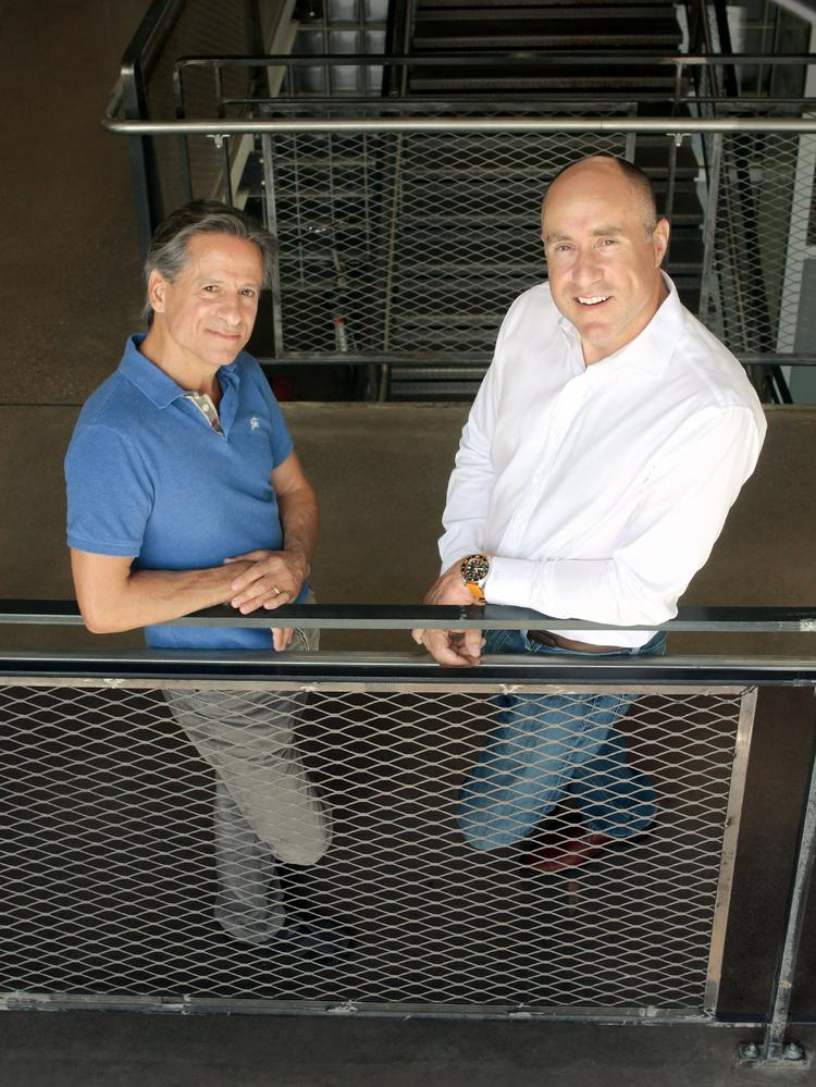 4moms CTO and cofounder Henry Thorne, left, and CEO and cofounder Rob Daley.