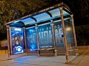 """The new """"Houdinis"""" bus shelter ad installations leave little doubt about what is being promoted."""