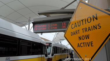Do you plan on using the DART rail service to Dallas/Fort Worth International Airport?