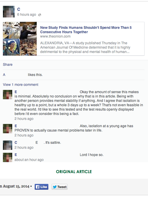 Facebook Tries Out Satire Tag After Users Think The Onion