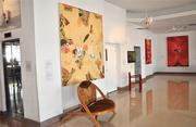 The Sagamore's art gallery is curated by Marty Taplin's wife, Cricket.