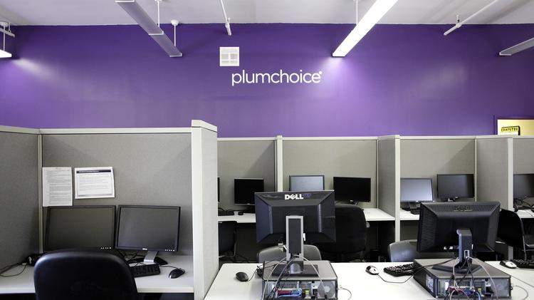PlumChoice, a technology support company, has opened a call center on the campus of Benjamin Franklin Institute of Technology in Boston, which is staffed exclusively by students.