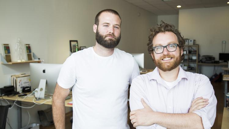Kertis Creative leaders Brett Marshall, left, and Stephen Kertis.
