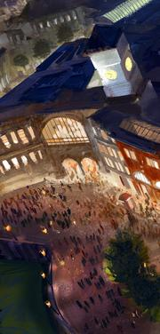 King's Cross and other well-known London buildings will welcome guests to the new Diagon Alley at Universal Studios.