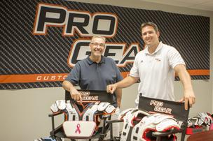 Fred and Scott Williams of Pro Gear Custom Football Equipment.