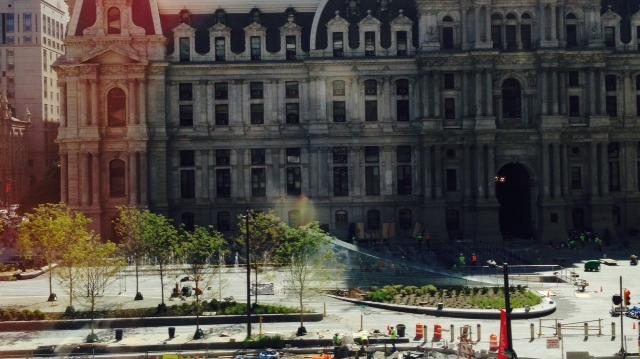 A view of the new Dilworth Park at City Hall in Center City.