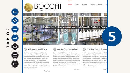 Bocchi Laboratories Total job impact: 321 Potential value of tax credit: $588,544 Company investment/fixed assets: $8.1 million
