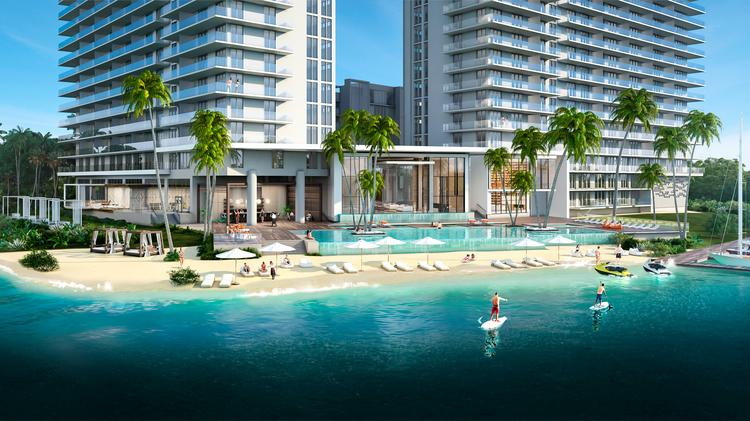 Key International and 13th Floor Investments plan to build 330 condo units in The Harbour in North Miami Beach.