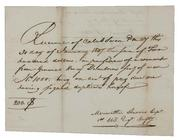 Meriwether Lewis's receipt for payment