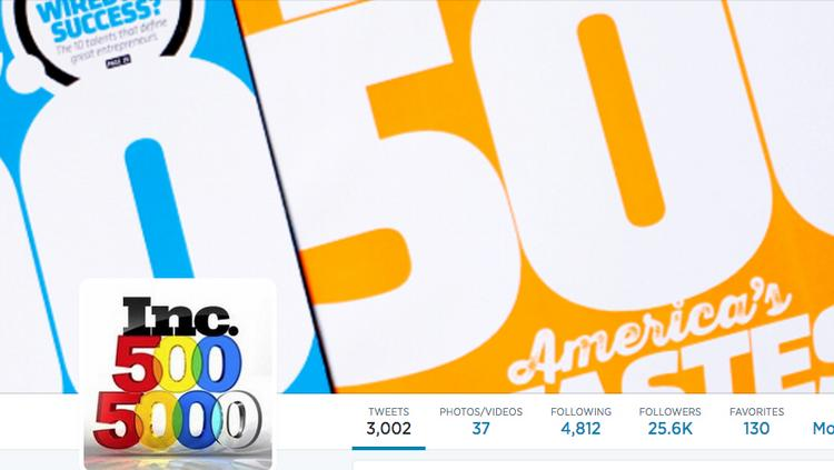 Inc. magazine released its latest list of the 5,000 fastest-growing private companies in the U.S.