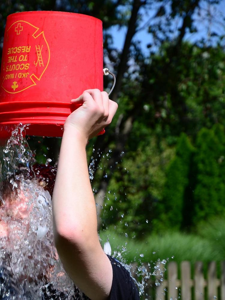Four firefighters in Campbellsville were injured while helping students with the ALS Ice Bucket Challenge.
