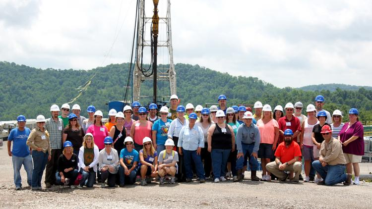 Ohio Oil and Gas Energy Education Program takes teachers on tours of drilling locations as part of its training program.