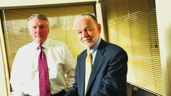 Dermira CEO Tom Wiggans (left) with founder and Chief Medical Officer Gene Bauer. They have filed to raise up to $75 million in an IPO.