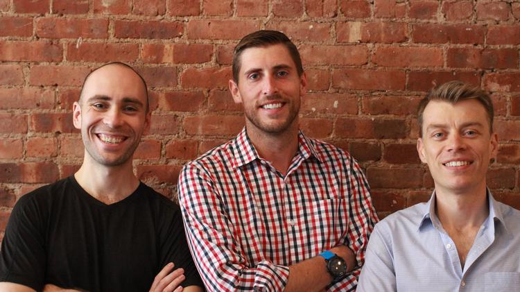 Hightower founders (left to right) are designer Donald DeSantis, CEO Brandon Weber and Chief Technology Officer Niall Smart. Hightower, a tech company that serves the commercial real estate industry, on Thursday announced a $6.5 million series A round of financing.