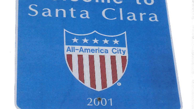 What should Santa Clara adopt as a slogan?