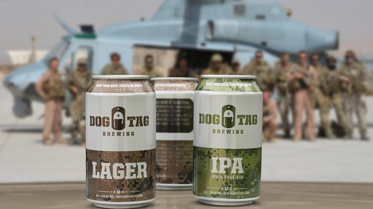 Dog Tag Brewing Co. features fallen warriors on its cans.