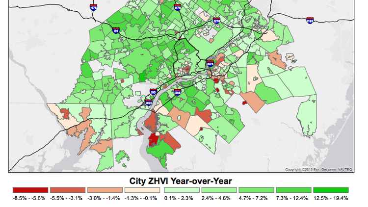 Zillow: Philadelphia home values up 4.6 percent in past year ... on